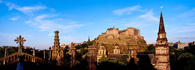 Edinburgh Castle Photograph - Castle Viewed From St. Johns Church by Panoramic Images