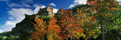 Edinburgh Castle Photograph - Castle Viewed Through A Garden by Panoramic Images