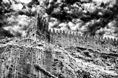 Castle Photograph - Castle Wall In Porto by John Rizzuto