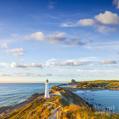 Castlepoint Lighthouse New Zealand. Print by Colin and Linda McKie