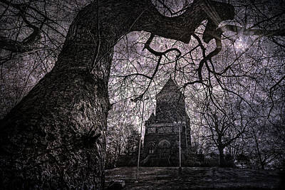 Birds In Graveyard Photograph - Castles In The Night by Dale Kincaid