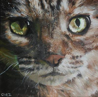 Portrait Painting - CaT by Cherise Foster