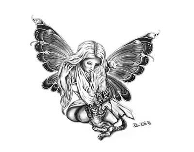 Cat Fairy  Print by Peter Piatt