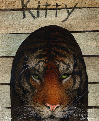 Bengal Tiger Painting - Cat House... by Will Bullas