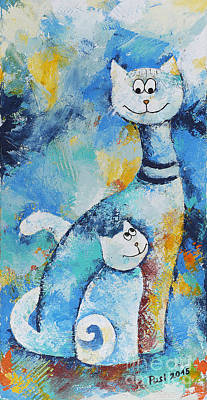 Cat Mommy Original by Jutta Maria Pusl