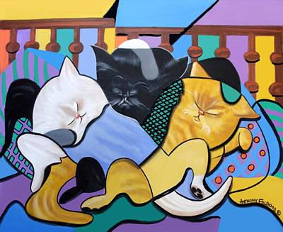 Fine Art Cat Digital Art - Cat Nap by Anthony Falbo