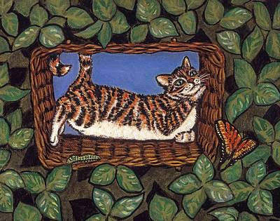 Cat Napping Print by Linda Mears