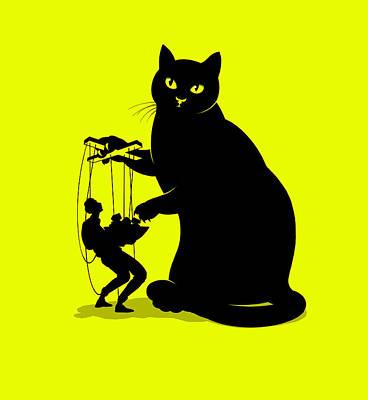 Manipulation Photograph - Cat Ownership Dynamics by Smetek
