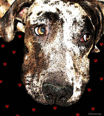 Catahoula Leopard Dog - Lover Print by Sharon Cummings