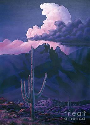 Catalina Mountain Sunset Original by Jerry Bokowski