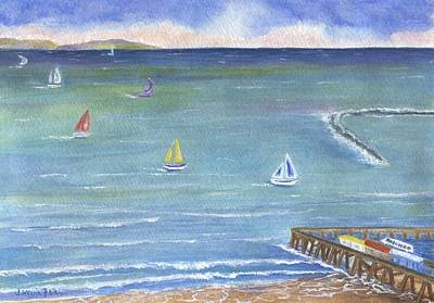 Frier Painting - Catalina To Redondo by Jamie Frier