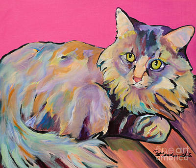 Cat Images Painting - Catatonic by Pat Saunders-White