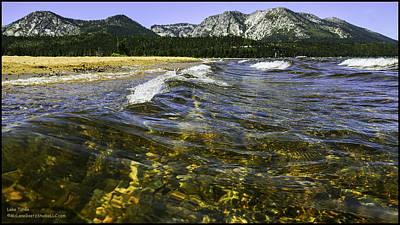 Background Photograph - Catch A Wave At Lake Tahoe by LeeAnn McLaneGoetz McLaneGoetzStudioLLCcom