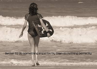 Catch A Wave Quote Print by JAMART Photography