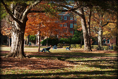 Catching Rays - Davidson College Print by Paulette B Wright
