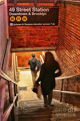 Catching The Subway Print by Karol Livote
