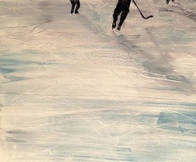 Shinny Hockey Painting - Catching Up by Desmond Raymond