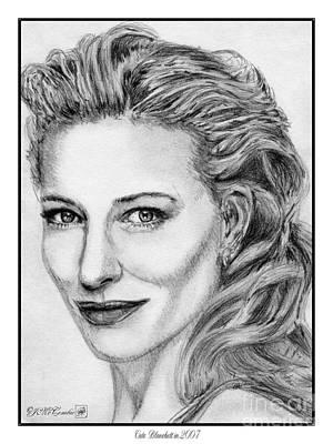 Cate Blanchett In 2007 Print by J McCombie