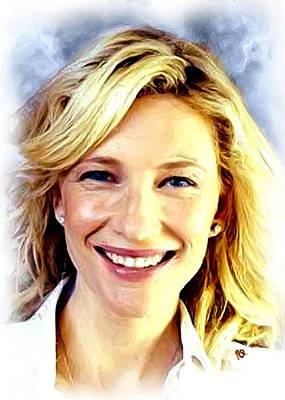 Cate Blanchett Print by Paul Quarry