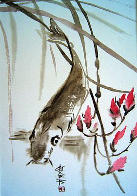 Catfish Print by Alena Samsonov