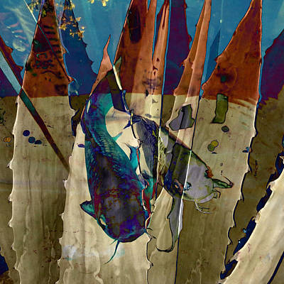 Catfish Mixed Media - Catfish In The Desert by Patricia Januszkiewicz