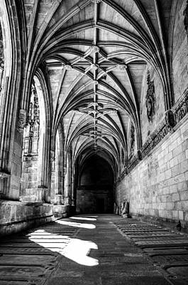 Santiago Cathedral Cloisters Print by Justin Murazzo