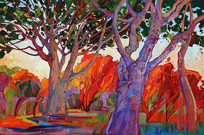 Pasadena Painting - Cathedral by Erin Hanson