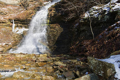 Cathedral Falls Rainbow Print by Chris Flees