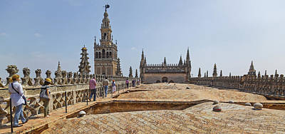 Andalusia Photograph - Cathedral In A City, Seville Cathedral by Panoramic Images