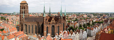 Pomeranian Photograph - Cathedral In A City, St. Marys Church by Panoramic Images