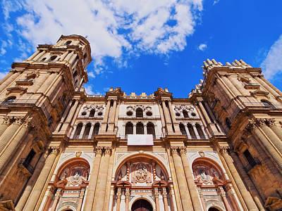 Cathedral In Malaga Print by Karol Kozlowski
