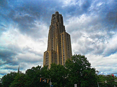 Cathedral Of Learning Print by S Patrick McKain
