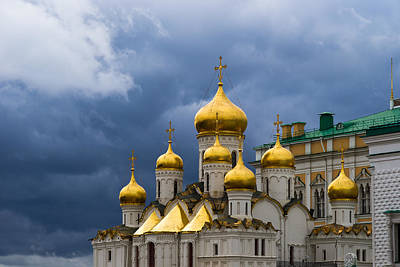 Cathedral Of The Annunciation Of Moscow Kremlin Print by Alexander Senin