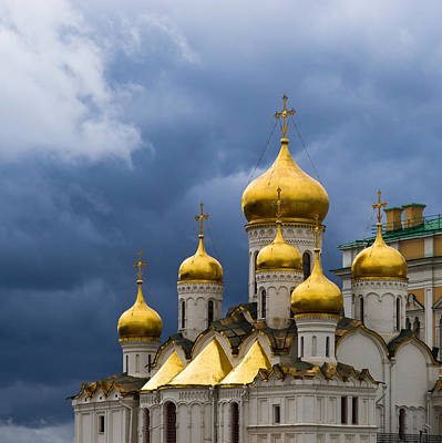Cathedral Of The Annunciation Of Moscow Kremlin - Square Print by Alexander Senin