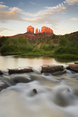 Cathedral Rock At Red Rock Print by Peter Carroll