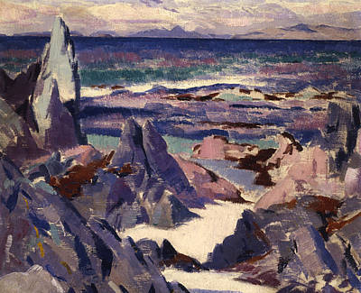 Cloudy Day Painting - Cathedral Rock by Francis Campbell Boileau Cadell