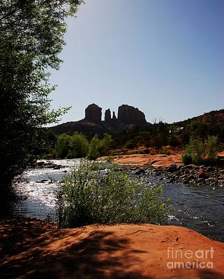 Oak Creek Photograph - Cathedral Rock by Mel Steinhauer