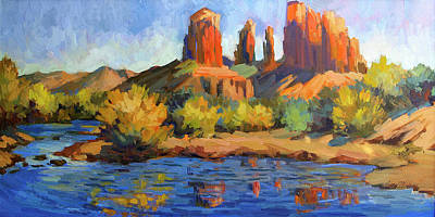 Cathedral Rock Sedona Print by Diane McClary