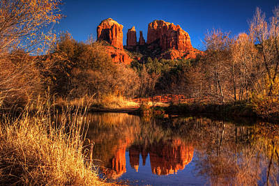 Cathedral Rock Print by Tom Weisbrook