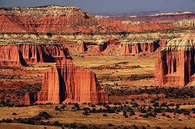 Cathedral Valley, Upper Cathedral Print by Michel Hersen