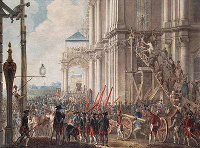 Catherine II On The Balcony Of The Winter Palace, Greeted By Guards And People On The Day Print by I.K Kaestner