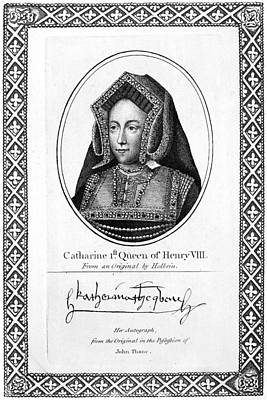 Autograph Painting - Catherine Of Aragon (1485-1536) by Granger