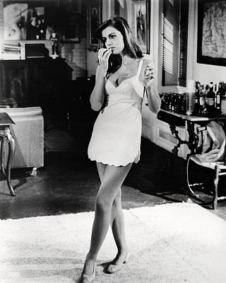 Catherine Spaak In Hotel  Print by Silver Screen