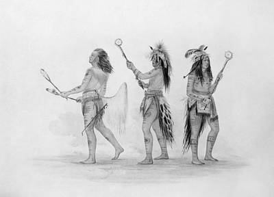 Lacrosse Painting - Catlin Ball Players by Granger