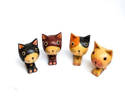 Cats Doll Print by Suntasit Fhakthap