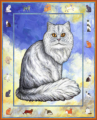 Cats Purrfection Three - Persian Print by Linda Mears