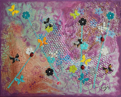 Net Painting - Caught In A Net by Donna Blackhall