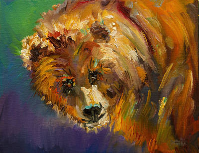 Caught In Sunlight Bear Original by Diane Whitehead