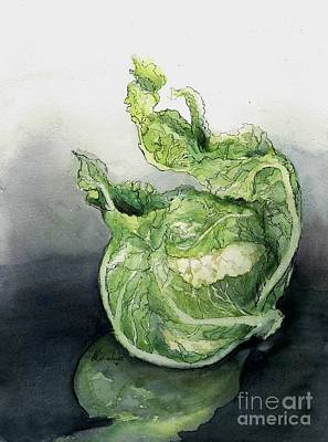 Cauliflower Painting - Cauliflower In Reflection by Maria Hunt