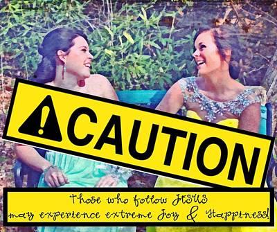 Caution Print by Michelle Greene Wheeler
